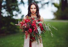 осенняя свадьба в цвете марсала