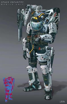 ArtStation - Space Infantry_Mobile Unit, Jia How