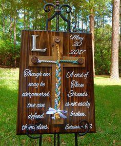 Wood Cross Unity Braids® Rustic Wedding Cord of Three
