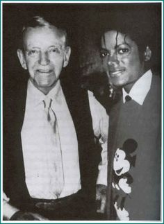 MJ and world famous dancer Fred Astaire 1984