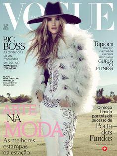 Rosie Huntington-Whiteley by Henrique Gendre for Vogue Brazil April 2013