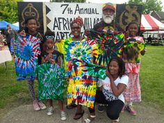 Throwback Thursday to the time we volunteered at the 7th Annual African Village Arts Festival. Joe is a longtime employee of ours and he had a wonderful time teaching the children how to make tie dye shirts! #tiedye #tiedyed #volunteer #giveback