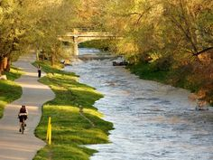 More bike paths, please! This beautiful scene is of the Cherry Creek Bike Path in Denver, CO.