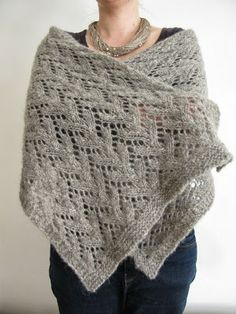 Felted Lace Wrap knitting pattern by Littletheorem