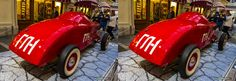 3D old automobiles in GUM shaping mall, Moscow