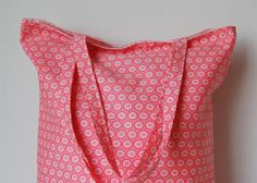 Cotton Tote Bag Pink Dot by PeetSwea on Etsy, $19.00