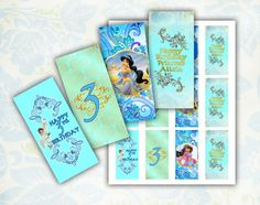 Jasmine Mini Candy Bar Wrappers Printable by EDParty on Etsy, $3.00