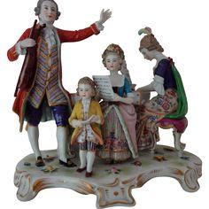 Dresden figural group by Ernst Bohne (& sohne)
