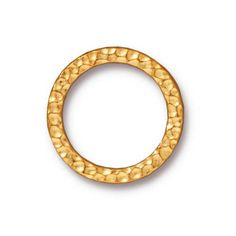10 Rings  19mm Hammertone Rings Bright Gold by StravaMax on Etsy, $14.99
