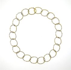 Laura Munder 18k Gold Diamond Oval Link Necklace Featured in our upcoming auction on August 18!