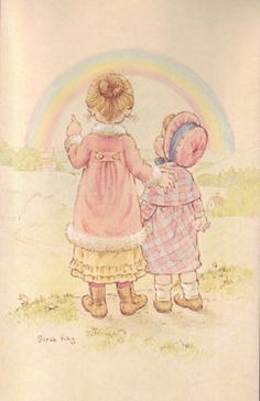 a postcard by Sarah Kay, printed by Paperitaide, from the year 1983 Hobbies For Kids, Hobbies To Try, Holly Hobbie, Cute Images, Cute Pictures, Mary May, Dibujos Cute, Hobby Horse, Sweet Pic
