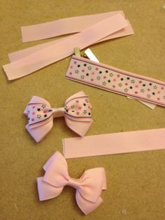 Exclusive handmade hair bows and accessories by Shelly by DreambowsUK Diy Ribbon, Ribbon Crafts, Ribbon Bows, Ribbons, Hair Bow Tutorial, Handmade Hair Bows, Diy And Crafts Sewing, Making Hair Bows, Diy Hair Accessories