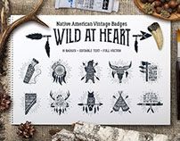 Wild at Heart. Vintage Badges (part 1)