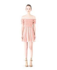 Are you looking for REDValentino Women Georgette Silk And Macramé Dress? Discover all the details at the official store and shop online: fast delivery and secure payments.