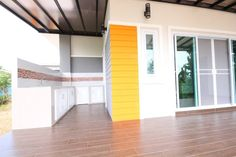 This house concept is simple in design yet the touch of elegance is still in it. With 3 bedrooms, this house is 143 square meters total floor area. Modern Bungalow House Plans, Bungalow House Design, Modern Houses, 2 Storey House Design, Kerala House Design, Kerala Houses, Simple House Design, Home Design Plans, Home Decor Styles