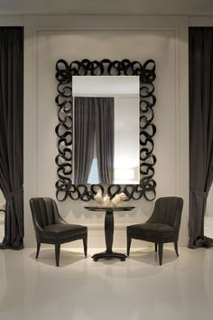 Over the past 20 years, there has been no bigger name in mirror design than Christopher Guy Harrison, the founder of the renowned luxury furniture design company, Christopher Guy. Home Living Room, Living Room Decor, Bedroom Decor, Christopher Guy, Modern Interior, Interior Design, Interior Ideas, Nautical Bathroom Decor, Deco Retro