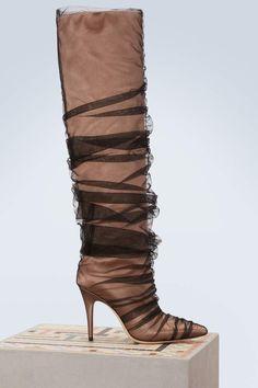 Jimmy Choo x Off-White Elisabeth 100 boots Flat Boots f14e0ea1f62