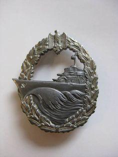 War Medal German Navy Destroyer Badge WW2
