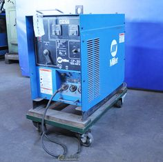 300 Amp Used Miller Mig Welder, Mdl. CP-300, Amp Meter, Spool Holder, Ground Cable, Cart & Casters, Power Cord,  #A1677