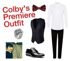 """""""Colby's Red Carpet Look"""" by autumnn09 ❤ liked on Polyvore featuring River Island, Topman, MANGO MAN, Versace, Gucci, men's fashion and menswear"""
