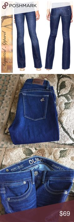"""NWOT DL1961 Jennifer High Rise Boot Jeans 33"""" Adorable style. Size tag cut out but size 25. Waist measures 14"""" flat so 28"""" total which is typical 25 size measurement.  Brand new without tags.  Approx 33.5"""" inseam DL1961 Jeans Boot Cut"""