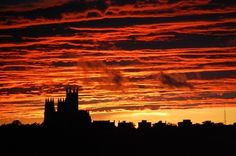 DC Sunset over National Cathedral 9/15/2011