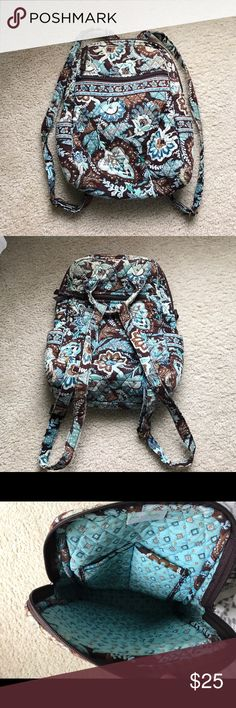 Vera Bradley mini backpack in Java Blue! Mini backpack in Java Blue, color is faded slightly, but still in great condition! Willing to negotiate! Vera Bradley Bags Backpacks
