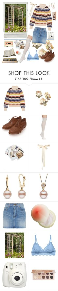 """""""Sunday in the Garden"""" by cherrydaydreams ❤ liked on Polyvore featuring Chloé, New Directions, Chronicle Books, Yves Saint Laurent, Tony Moly, Cosabella, Fujifilm and ZOEVA"""