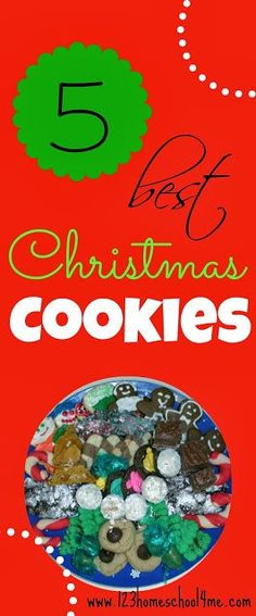 The Top 5 Christmas Cookie Recipes you won't want to miss! These are AWESOME recipes!