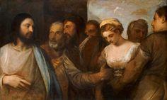 Titien Le Christ et la femme adultère 1512/30 KHM Vienne