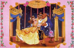 Beauty and the Beast- Belle and the Beast sharing a romantic dance in the royal ballroom with Enchanted Rose Disney Princess Jasmine, Disney Princess Dresses, Princess Belle, Disney Princesses, Beauty And The Best, Belle Beauty And The Beast, Romantic Dance, Disneyland World, Enchanted Rose