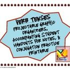 Graphic Organizers for Teaching/Reviewing the Simple Verb Tenses, Perfect Verb Tenses, Progressive Verb Tenses, and Perfect Progressive Verb Tense...$