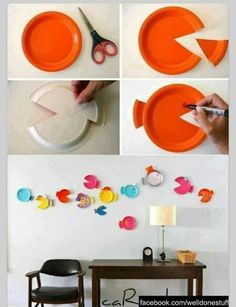 Paper Plate Fish - a great way to use up old paper plates!