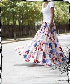 fashion and lifestyle: Muslim Women Fashion Long Bohemian Skirt Modest Dresses, Modest Outfits, Modest Fashion, Skirt Fashion, Hijab Fashion, Modest Clothing, Bohemian Skirt, Bohemian Style, Boho Chic