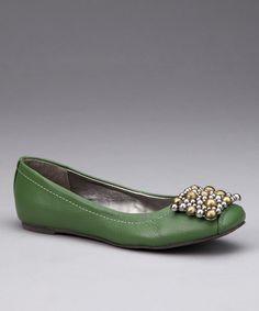 Green Tiffany Ballet Flat