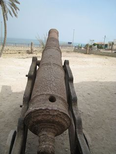 One of the cannons of Qeshm Portuguese castle Forts, Portuguese, Cannon, Portugal, Castle, Guns, Monuments, Castles, Canon