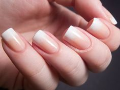Ombre French Manicure. So hot for summer. #nails #nailart http://www.ivillage.com/wedding-nails-bridal-nails-nail-art-designs/5-a-529600#