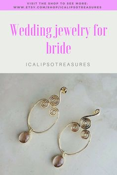 Dainty gold earrings perfect as bridesmaid gift or as gift for Valentines for your friend or girlfriend as statement jewelry.  They fit the most sensitive ears. Visit the shop to see more.