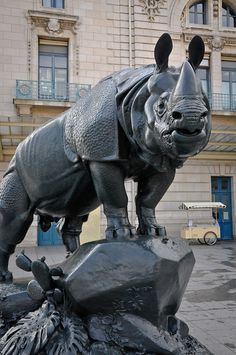 Rhino Sculpture at Musée dOrsay Paris France | Flickr - Photo Sharing!
