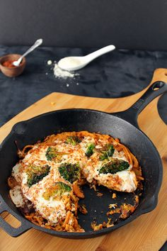 Cajun Broccoli Potato Noodle Pizza: Two Ways