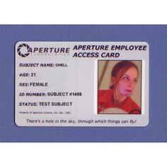 Aperture Science Shop for Employee ID Cards