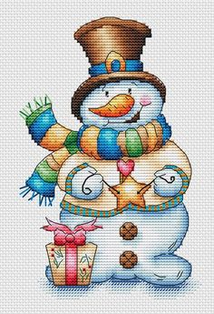 Thrilling Designing Your Own Cross Stitch Embroidery Patterns Ideas. Exhilarating Designing Your Own Cross Stitch Embroidery Patterns Ideas. Snowman Cross Stitch Pattern, Xmas Cross Stitch, Cross Stitch Needles, Cross Stitch Kits, Cross Stitch Charts, Counted Cross Stitch Patterns, Cross Stitch Designs, Cross Stitching, Cross Stitch Embroidery
