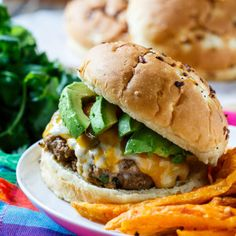Chipotle Pork Burgers are smokey and spicy. Ground pork makes an extremely flavorful and juicy burger.