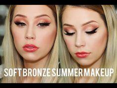 Soft Bronze Smokey Eye | Summer Makeup Tutorial | Laura Traum - YouTube