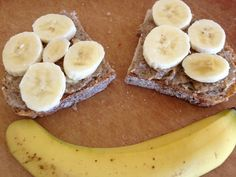 Almond butter on whole-grain bread with bananas will satisfy any munchkin