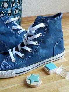 binedoro Blog ⎮ DIY ⎮ Sneakers bestempeln stamps