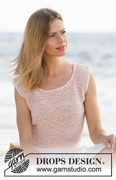 Ravelry: Beach Bubbles pattern by DROPS design Drops Design, Knitting Patterns Free, Free Knitting, Crochet Diagram, Crochet Pattern, Free Crochet, Rose Jacket, Magazine Drops, Knitting For Charity