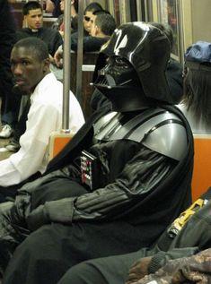 Darth Vadar on Subway...