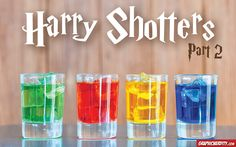 We love a good Harry Potter-inspired recipe — and that goes for cocktails, too. If you enjoyed the first Harry Potter shotters post we shared from our friends at Graphic Nerdity, you're going to love round 2!