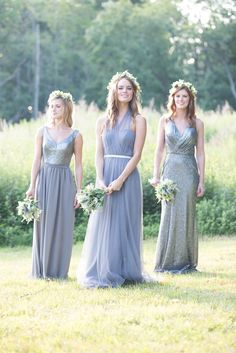 Bridesmaid Dresses Available at Ella Park Bridal | Newburgh, IN | 812.853.1800 | Bari Jay - Styles 1613, EN-1626, 1601 | Color Scheme in Platinum & Shadow